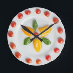"""Tomato, Pepper &amp; Basil Wall Clock<br><div class=""""desc"""">A crisp and colourful creation from the My Easy Suppers range!</div>"""