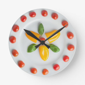Tomato, Pepper & Basil Wall Clock
