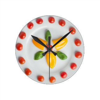 Tomato, Pepper & Basil Wall Clock