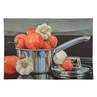 Tomato Pepper Garlic Medley Cloth Placemat