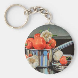 Tomato Pepper Garlic Medley Keychain