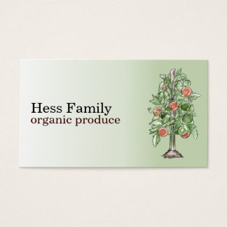 Tomato Plant Business Cards