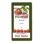 Tomato Preserved Kitchen Label Shipping Label