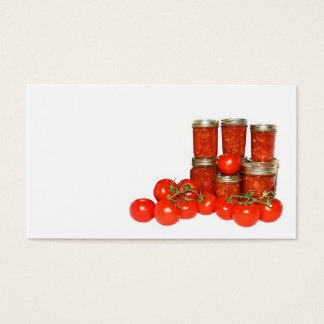 Tomato preserves business card