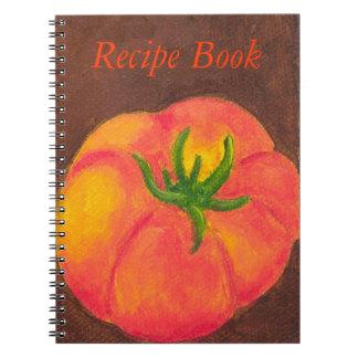 Tomato Recipe Book Spiral Notebook
