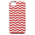 Tomato Red And White Zigzag Chevron Pattern iPhone 5 Cases