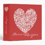 Tomato Red Heart Recipe Personalized Name Binder