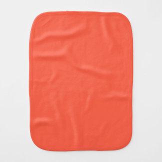 Tomato Red Solid Color Burp Cloth