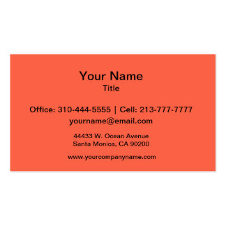 Tomato Red Solid Color Business Card