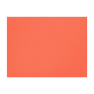 Tomato Red Solid Color Canvas Print