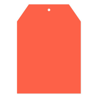 Tomato Red Solid Color Card