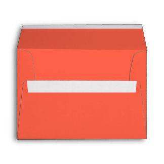 Tomato Red Solid Color Envelope