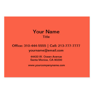 Tomato Red Solid Color Large Business Card