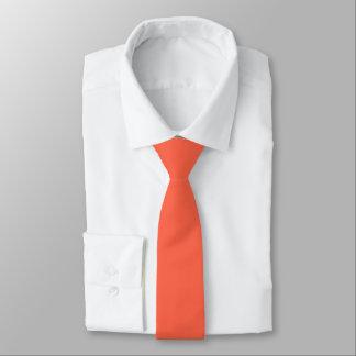 Tomato Red Solid Color Necktie