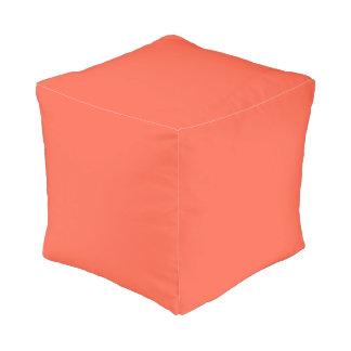 Tomato Red Solid Color Pouf