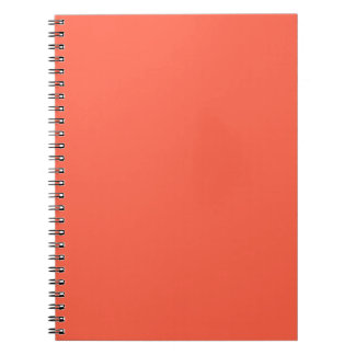Tomato Red Solid Color Spiral Notebook