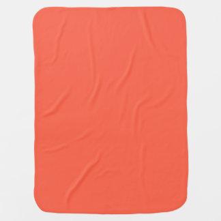 Tomato Red Solid Color Stroller Blanket