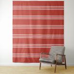 Tomato Red Stripes Pattern tapestries