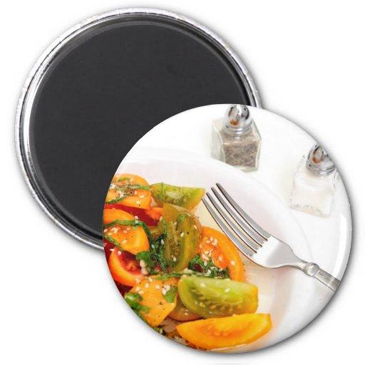 Tomato Salad Fridge Magnet