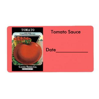 Tomato Sauce Canning/Freezing Labels