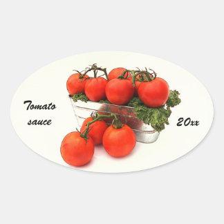 Tomato sauce canning label