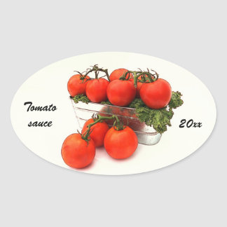 Tomato sauce canning label stickers