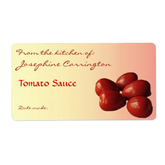 Tomato Sauce Canning Labels