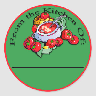 Tomato Sauce Canning Labels Classic Round Sticker