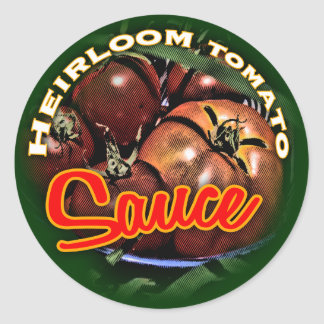 Tomato Sauce Classic Round Sticker