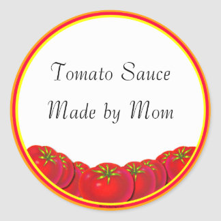 Tomato Sauce Custom Canning Labels Round Stickers
