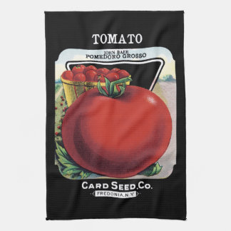 Tomato Seed Packet Label Kitchen Towels