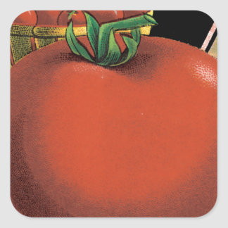 Tomato Seed Packet Square Sticker