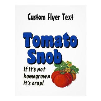 Tomato Snob Custom Flyer