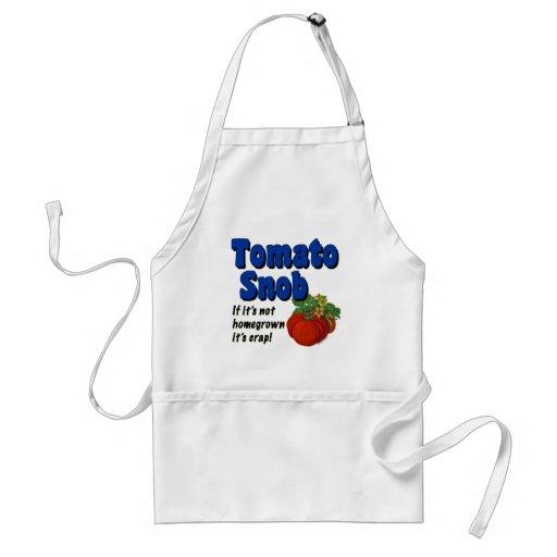 Tomato Snob Funny Cooking Saying Apron Apron