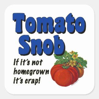 Tomato Snob Funny Gardener Saying Sticker
