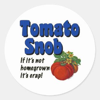 Tomato Snob Gardener Saying Sticker