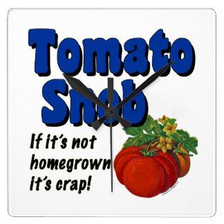 Tomato Snob Gardener Saying Wall Clock