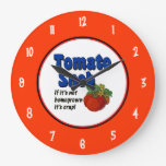 Tomato Snob Saying with Numbers Wall Clock