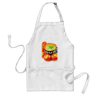 Tomato soup adult apron