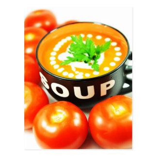 Tomato soup postcard
