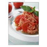 Tomato Spaghetti Greeting Cards