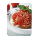 Tomato Spaghetti Rectangle Magnet