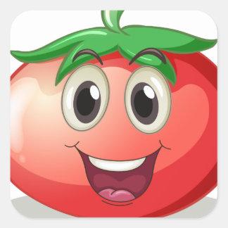 Tomato Square Sticker