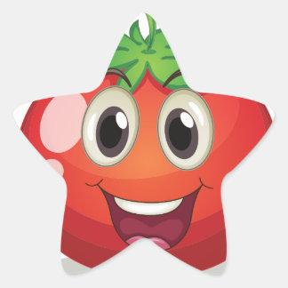 Tomato Star Sticker