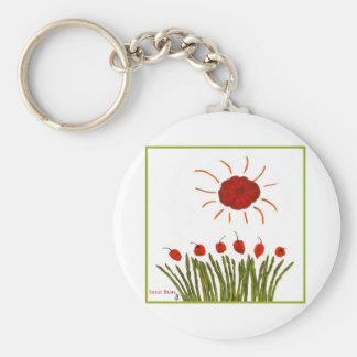 Tomato Sun Basic Round Button Keychain