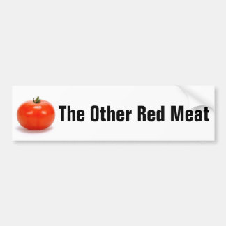 Tomato: The Other Red Meat Car Bumper Sticker