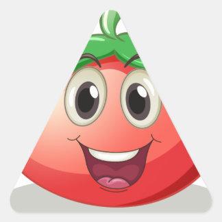 Tomato Triangle Sticker