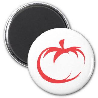 Tomato Vegetable Icon 2 Inch Round Magnet