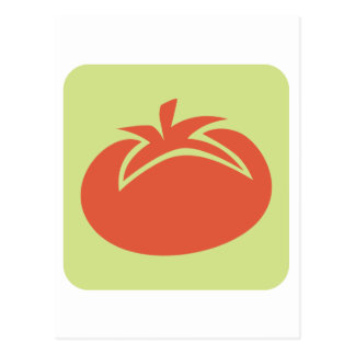 Tomato Vegetable Icon Postcard