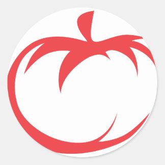 Tomato Vegetable Icon Classic Round Sticker